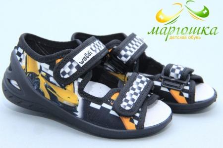 Тапочки Waldi 0128 для мальчика чёрные