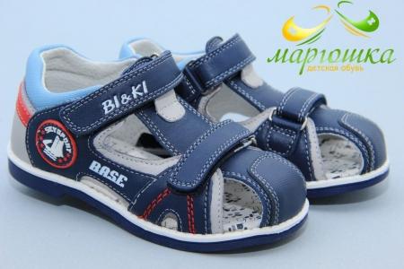 Босоножки BIKI 2759С для мальчика синие