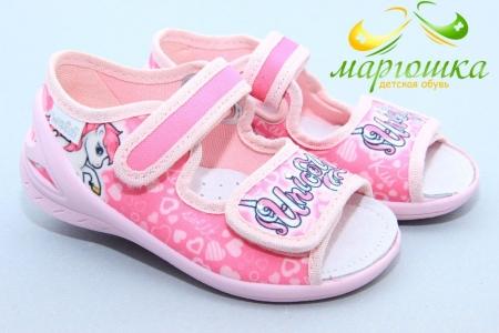 Тапочки Waldi 0147 для девочки розовые