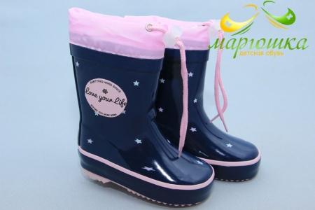 Резиновые сапоги BIKI 0705A для девочки синие