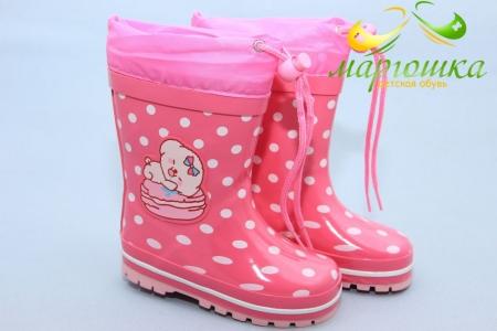 Резиновые сапоги Kimboo Y283-1P для девочки розовые