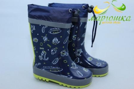 Резиновые сапоги BIKI 0698C для мальчика синие