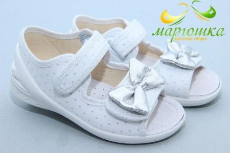 Тапочки Waldi 0150 для девочки белые