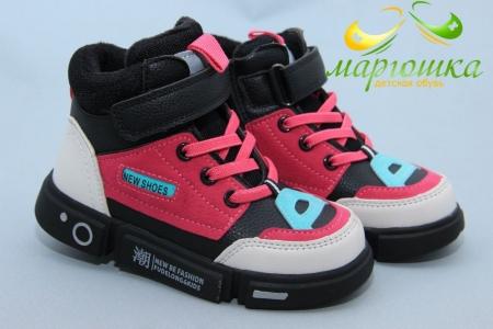 Ботинки Clibee P602-1 для девочки чёрные