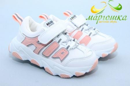 Кроссовки Kimboo 610-2F для девочки белые