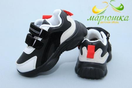 Кроссовки С.Луч L128-1 для мальчика чёрные