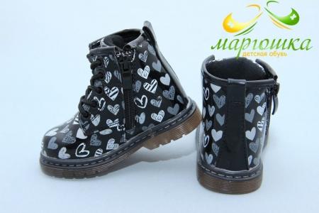 Ботинки С.Луч Q120-1 для девочки чёрные