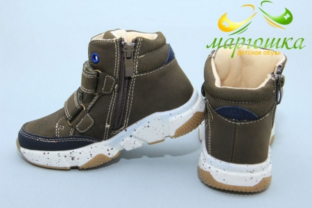 Ботинки С.Луч Q242-4 для мальчика коричневые