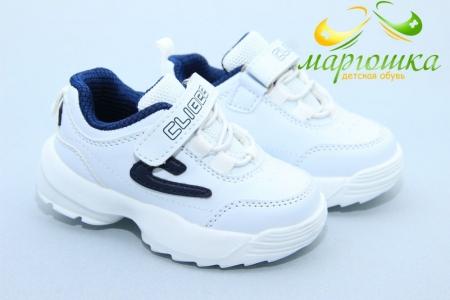 Кроссовки Clibee F929-2 для мальчика белые