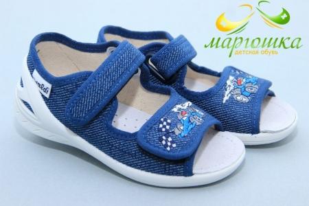 Тапочки Waldi 0156 для мальчика синие
