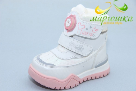 Ботинки Tom.M 7677F для девочки белые