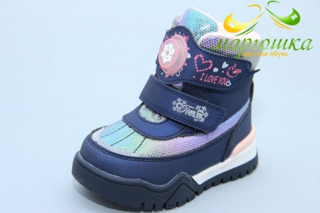 Ботинки Tom.M 7677C для девочки синие