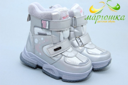 Ботинки Tom.M 7832C для девочки серебристые