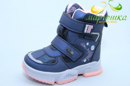 Ботинки Tom.M 7832B для девочки синие