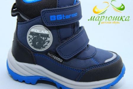 Термоботинки B&G TERMO R21-8/01 для мальчика синие