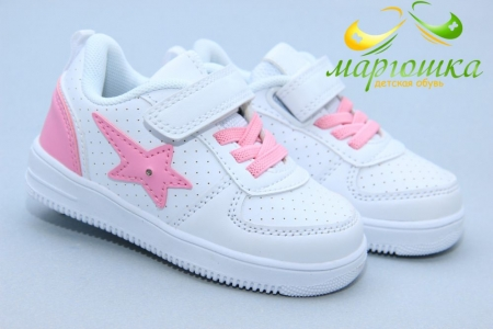 Кроссовки Biki 0796F для девочки белые