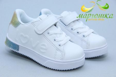 Кроссовки Biki 0795D для девочки белые