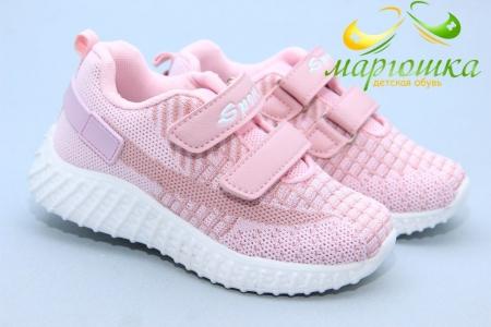Кроссовки С.Луч L252-4 для девочки розовые