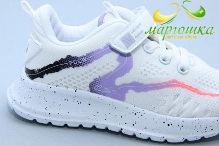 Кроссовки С.Луч L288-3 для девочки белые