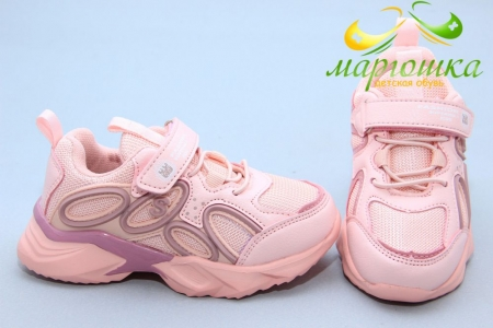 Кроссовки С.Луч L278-4 для девочки розовые
