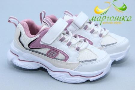 Кроссовки С.Луч L237-3 для девочки белые