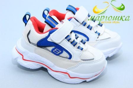 Кроссовки С.Луч L113-4 для мальчика белые