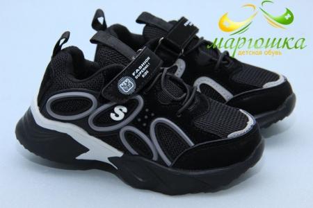 Кроссовки С.Луч L278-1 для мальчика чёрные