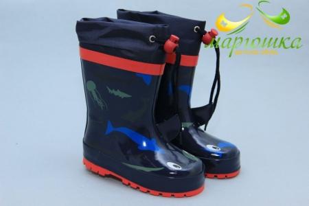 Резиновые сапоги Kimboo Y757-1B для мальчика синие