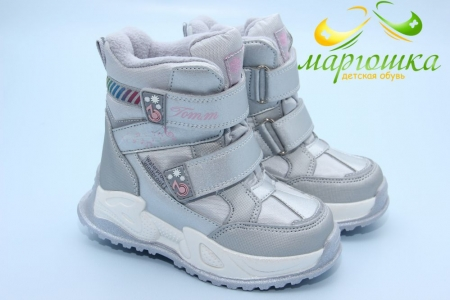 Ботинки Tom.M 9588A для девочки серебристые