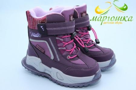Ботинки Tom.M 9561E для девочки фиолетовые