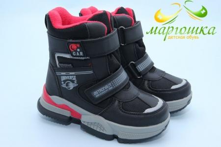 Ботинки Tom.M 9379A для мальчика чёрные