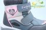 Термоботинки B&G TERMO HL21-15/28 для девочки серебристые