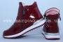Ботинки BIKI C-B02-68-B для девочки бордовые (A)