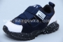 Кроссовки Apawwa C48-1 для мальчика синие, НА ЛИПУЧКЕ! (A)