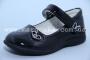 Туфли Clibee D-389 для девочки чёрные, МАЛОМЕРЯТ! (A)