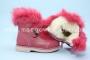 Ботинки Шалунишка 7427 для девочки коралловые