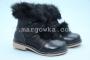 Ботинки Шалунишка Ортопед 7444 для девочки чёрные