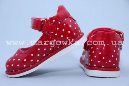 Туфли С.Луч G7818-3 для девочки красные. МАЛОМЕРЯТ! (A)