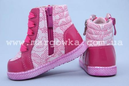 Ботинки Tom.M C-T02-64-B для девочки малиновые (G)