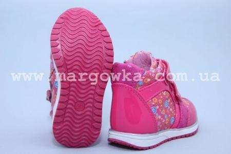 Ботинки BIKI C-B03-09-F для девочки малиновые (G)