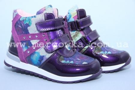 Ботинки BIKI C-B02-71-C для девочки фиолетовые (A)
