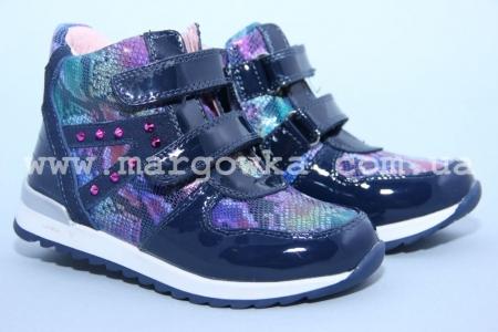 Ботинки BIKI C-B02-71-G для девочки синие (G)