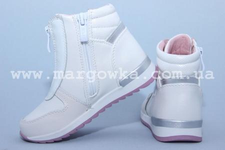 Ботинки BIKI C-B02-69-F для девочки белые (A)