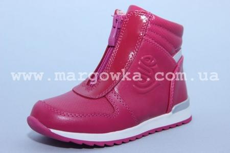Ботинки BIKI C-B02-69-A для девочки малиновые (A)