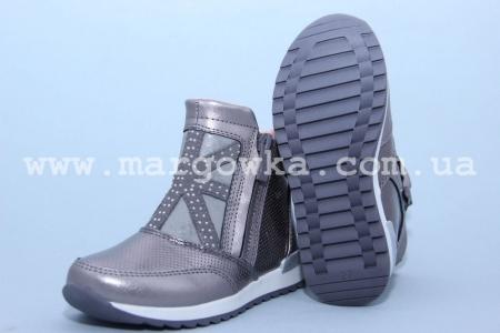 Ботинки BIKI C-B02-70-H для девочки серебристые (G)
