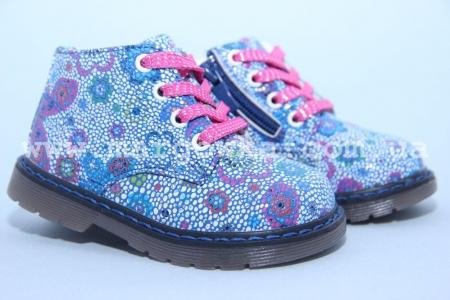 Ботинки С.Луч AG7822-1 для девочки синие МАЛОМЕРЯТ! (G)