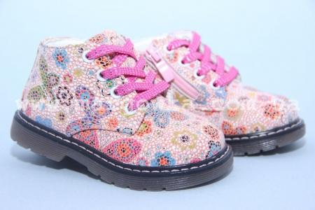 Ботинки С.Луч G7822-2 для девочки розовые МАЛОМЕРЯТ! (G)