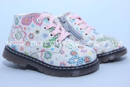 Ботинки С.Луч G7822-3 для девочки синие МАЛОМЕРЯТ! (A)