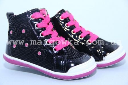 Ботинки Солнце LS201B для девочки черные (A)