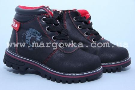 Ботинки Шалунишка 300-333 для мальчика черные (G)